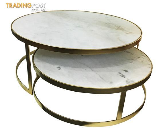 Marble top coffee table .. hand made