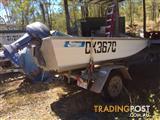 Stessl Tinny 3.4m & trailer c/w 15hp Yamaha outboard