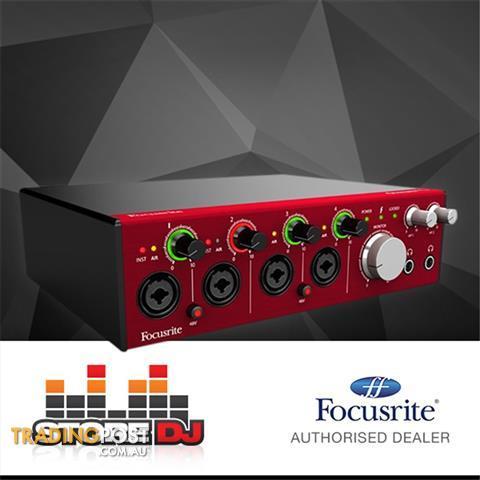 Focusrite-Clarett-4Pre-18x8-Thunderbolt-Audio-Interface
