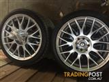 4x Nankang 17inch Tyres and Speedy Alloy Rims