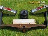 Landcruiser Tow Bar Assembly and Spare Wheel Holder