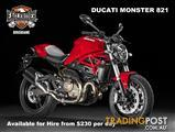 FOR RENT Ducati Monster 821