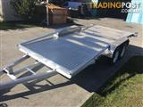 Aluminium Car Carrier With Railings New Tyres & Rims