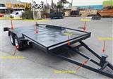 Australian Tilting 2.9Ton Heavy Duty Car Carriers Railings & Underbody Ramps Included