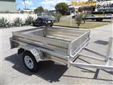 AUSTRALIAN MADE ALUMINIUM 7X4 BOX TRAILERS WITH NEW LIGHT TRUCK TYRES & RIMS