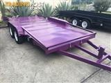 TILTING 15FT 2.9TON HEAVY DUTY CAR CARRIER WITH RAILINGS & RAMPS