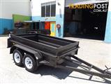 AUSTRALIAN MADE HEAVY DUTY HIGH SIDE 10X5 TANDEM TRAILER INCLUDES BRAND NEW LIGHT TRUCK TYRES & RIMS