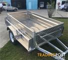 Australian Aluminium 7x4 Box Trailers Full Checker Plate Aluminium Trailers