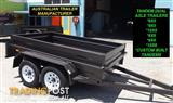 AUSTRALIAN MADE 8x5 HEAVY DUTY HIGH SIDE TANDEM TRAILERS WITH NEW TYRES & RIMS