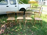 Set of 4 Antique Country Victorian Dining Chairs