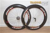 Zipp 404 Carbon Tubular wheelset, 58mm deep suit triathlon/racing