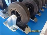 Castors Swivel 120mm H/Duty TENTE Made in Germany Rubber Tyres