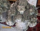Amazing Round Glass Top Table $440. Vintage Flower Pots $390 each