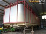 Fruehauf semi trailer Cattle /Cow Crate and trailer. Unregistered