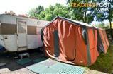 Large Canvas Red Desert Cabin Tent (Two Rooms, plus Awning Kit)