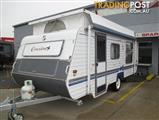 Monarch Crusader Pop Top, Single Axle Classic Front Kitchen Layout with Island Double Bed