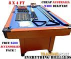 8x4 FT + FREE ACCESSORIES-SALE ENDS 2PM SUNDAY-3 COLORS AVAILABLE