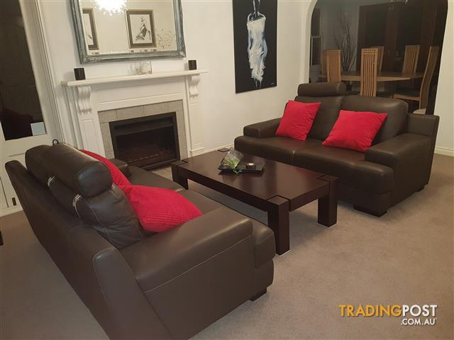 Almost New x 2 Seater Leather Sofas
