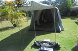 Near New Heron  2 room plus awning tent for sale