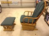 Maternal rocking chair for feeding mothers