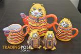 Living Art Cat Coffee Set