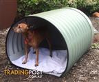Small Dog Barrel Kennel - 630W x 500H x 830L