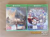 Xbox One - Assassins Creed Origins & South Park: The Fractured but Whole Games