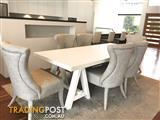 KELLY HOPPEN DESIGNER DINING TABLE & CHAIRS