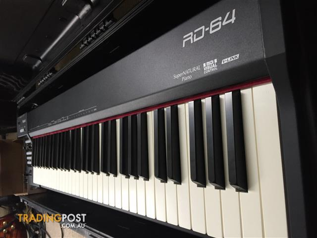 Roland RD64 Keyboard with Waterproof Hard Case