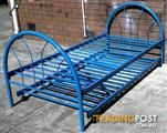 metal trundle single bed with 2 mattresses