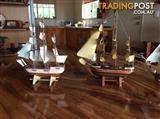 Handmade  Wooden Ships