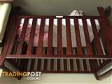 Sleigh cot and change table