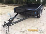 8x5 MODERN TRAILERS CHECKER PLATE ROLLED BODY 2000KG