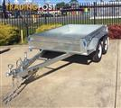 8X5 MODERN TRAILERS FULLY HOT DIPPED GALVANIZED ROLLED BODY TANDEM TRAILER