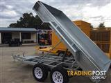 10x5 MODERN TRAILERS HOT DIPPED GALVANISED HYDRAULIC/ELECTRIC PUMP TIPPERS