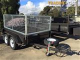 8x5 Supreme Caged Trailer included on-road cost MODERN TRAILERS