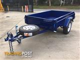 6x4 MODERN TRAILERS CHECKER PLATE ROLLED BODY TRAILER