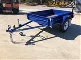 6x4 Modern Trailers Rolled Checker Plate 300mm high side Trailer