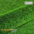 Artificial Grass 10 SQM Polypropylene Lawn Flooring 15mm Green