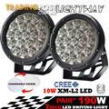 Pair 7inch 190w Cree LED Driving Light Black Spotlight Offroad HID 4x4 ATV