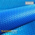 10.5m X 4.2m Outdoor Solar Swimming Pool Cover Winter 400 Micron Bubble Blanket