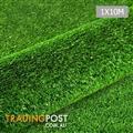 Artificial Grass 10 SQM Polypropylene Lawn Flooring 1X10M Green