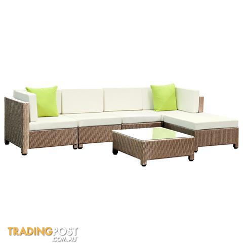 outdoor lounge 5 seater garden furniture wicker 6pcs rattan sofa