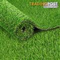 Artificial Grass 10 SQM Polyethylene Lawn Flooring 20mm Olive