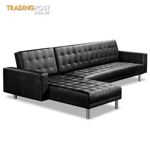 Premium PU Leather Modular Sofa Bed Couch Futon Suite 5 Seater Indoor  Lounges