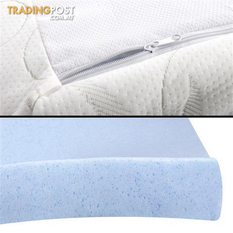 8cm Cool Gel Memory Foam Mattress Topper Eco Friendly Bamboo Fabric