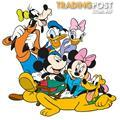 10 X Mickey Mouse Clubhouse Wall Stickers - Totally Movable