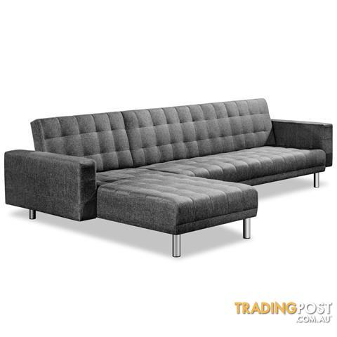 Premium Faux Linen Modular Sofa Bed Couch Futon Suite 5 Seater Indoor  Lounges
