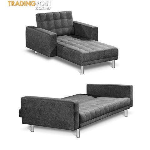 Premium Faux Linen Modular Sofa Bed Couch Futon Suite 5 Seater