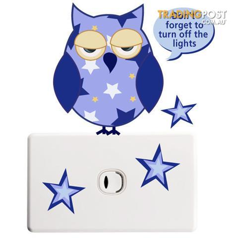 Owls-Light-Switch-Stickers-Totally-Movable-and-Reusable